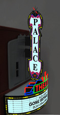 O-SCALE VERTICAL & HORIZONTAL THEATER COMBO ANIMATED LIGHTED NEON SIGNS-TOP BUY