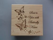 CREATIVE IMAGES RUBBER STAMPS CISTAMPS BUTTERFLY KISSES NEW wood STAMP