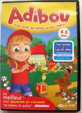 Jeu PC-CD Rom - Adibou joue avec les lettres et les chiffres 4-5 ans - 2010/2011