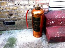 VINTAGE 1961 COPPER & BRASS WATERLOO FIRE EXTINGUISHER BY READ & CAMPBELL LTD