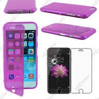 """Housse Etui Coque Portefeuille Silicone Violet Apple iPhone 6 Plus 5,5"""" Verre"""