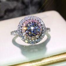 3Ct Round White Diamond VVS1/D Wedding Engagement Ring 14K white Gold Over
