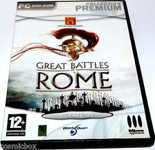 Jeu video PC GREAT BATTLES of ROME collection premium stratégie très bon état