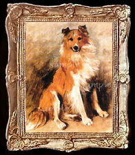 Collie Dog Miniature Dollhouse Doll House Picture