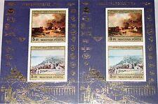 HUNGARY UNGARN 1976 Block 117 A-B C364 Paintings Gemälde Art Airlines Logos MNH