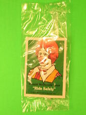 1977 McDonalds - Fun-To-Go *Test* - Bike Fender Sticker - Ronald *MIP*