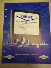 Vtg Haskelite Mfg Corp Catalog~Hasko-Struct Plastic Laminated Sandwich Panels