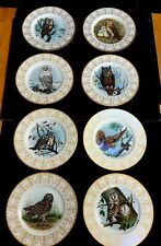 8 BOEHM OWL COLLECTION PLATES , MINT CONDITION << UNUSED >>