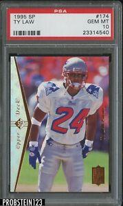 1995 SP #174 Ty Law New England Patriots RC Rookie PSA 10 GEM MINT