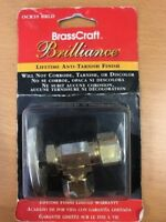 "BRASSCRAFT BRILLIANCE BRASS ANGLE VALVE 5/8"" O.D. x 1/2"" O.D OCR39 BRLD, 530451"