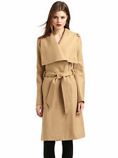 TED BAKER LONDON DANITA CAMEL WRAP WOOL& CASHMERE COAT& BELT UK 14 / 4 RRP £299