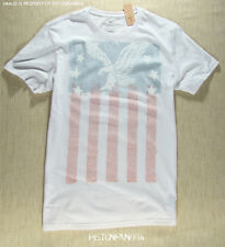 American Eagle Mens White Flag Graphic T Shirt XXXL NWT