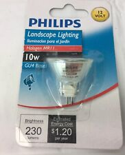 Philips MR11 Landscape Lighting Indoor Flood 10-Watt 12-Volt Light Bulb GU4 Base