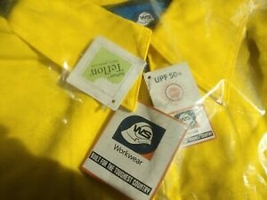 WorkSense Cotton Drill Hi Vis Work Jacket Size 3XL 115 Cm 3M Day Night Tape