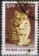 India Fauna Wild Animal Leopard Cat stamp 1972
