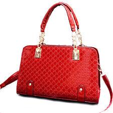 Vincenza Designer Womens Faux Patent Leather Large Style Tote Shoulder Handbag
