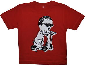 Organic Cotton Red Scooter T-Shirt SP £16
