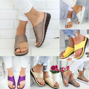 Womens Ladies Beach Wedge Sandals Casual Low Heel Flip Flops Toe Post Size 3.5-8