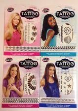 LOT 4 pochettes TATOUAGES EPHEMERES FASHION TATOO or metal bijoux