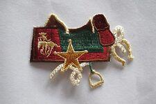 #2517 Cowboy Saddle,Horseshoe,Boots,Hat,Gun,Rope Embroidery Applique Patch