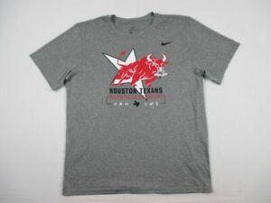 Houston Texans Nike Short Sleeve Shirt Men's Gray Dri-Fit New Multiple Sizes