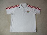 Adidas New York Red Bulls Polo Shirt Adult 2XL XXL White Major League Soccer Men