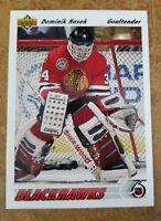 1991-92 Upper Deck DOMINIK HASEK - Chicago Blackhawks ROOKIE/RC #335 NM-M?