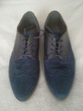 Men's deity Suede - Blue brogue - Crepe Sole shoes Size UK 7    EU. 40