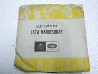 LATA MANGESHKAR OLD HITS  BOLLYWOOD rare EP RECORD 45 vinyl INDIA 1970 VG+
