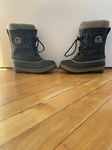 Sorel Yoot Pac Kids Boots Black Uk1 Virtually New