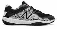 New Balance Kid's 4040V4 Pedroia Turf Baseball Big Kids Unisex Shoes Black With