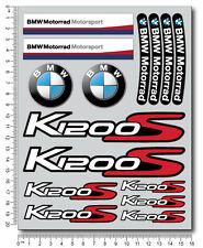 k1200S motorrad motorcycle decal set 22 premium stickers bmw K1200 S Laminated