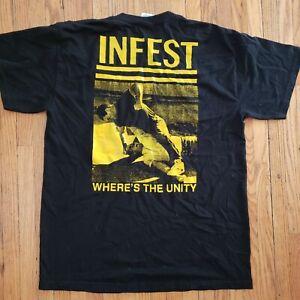 INFEST Shirt Vintage Spazz Man Is The Bastard Powerviolence Slap a Ham