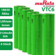 6 x Murata eh. Sony Konion US18650VTC6 Lithium Akku 3,7 V 18650 30A 3120mAh