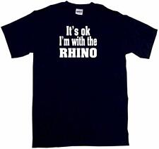 It's OK I'm With the Rhino Kids Tee Shirt Boys Girls Unisex 2T-XL