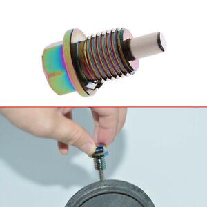 M14*1.5 Colorful Aluminum Magnetic Oil Drain Plug Bolt Sump Nut Accessories 1X