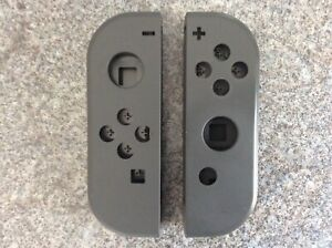 Pair of Nintendo Switch Official Grey Joycon Body Shells Only