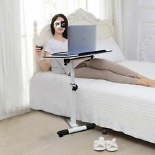 Mobile Laptop Desk Medical Adjustable Height Over Bed Sofa Side Table Multi-Purp
