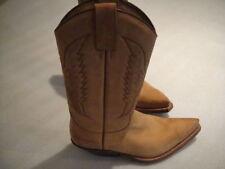 Cuero señoras de Texas Longhorn corto Nubuck Botas 7 UK/40 UE tamaño Vaquero Vintage