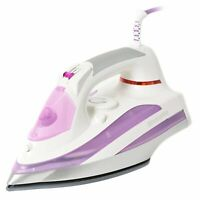 Brabantia 2600W Electric Steam Iron Ceramic Soleplate Self Cleaning In Purple