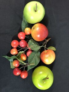 Lot of Faux  Apples and Cherries Fruit Theater Prop Staging Home Decor