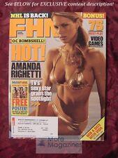 FHM November 2005 AMANDA RIGHETTI MEGAN FOX RICKY GERVAIS  HOCKEY
