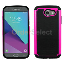NEW Hybrid Rubber Hard Case for Android Phone Samsung Galaxy J3 Emerge Pink HOT!
