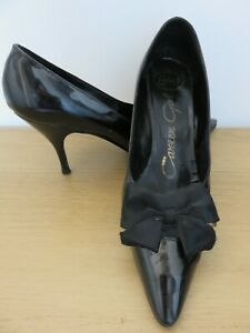 Vintage 1960s Black Winkle Pickers Lotus Career Girl Real Leather Shoes Size 5