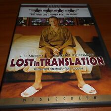 Lost in Translation (Dvd, 2004, Widescreen) Bill Murray, Scarlett Johansson Used