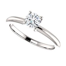 0.40 Carat H SI3 Ideal Cut Diamond Solitaire Ring