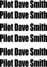 10X PILOT YOUR NAME FOR AIRCRAFT - MODEL PLANE - HELICOPTER - BOAT - CAR