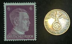 Authentic German Rare Coin and Stamp WW2 - Historical Artifacts For Collectors