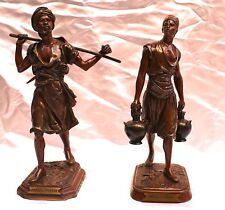 Magnificent Pair Of French Orientalism Bronze Statues By Marcel Debut, Foundary