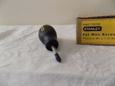 """Stanley (1) Stubby Screwdriver # 67-063 Pozidriv #1 x 1 3/16"""" *NEW*"""